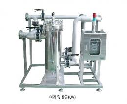 재이용수처리장치, 수처리장치, 여과살균UV, 우수처리장치