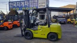 3톤 디젤지게차 10년식 클라크 GTS30DE모델, 사이드쉬프트