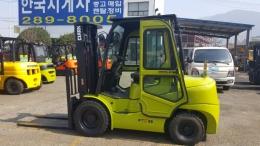 3톤 디젤지게차 10년식 클라크 GTS30DE 모델 사이드쉬프트, 캐빈