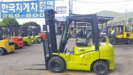 2.5톤 디젤지게차 13년식 클라크GTS25DE모델, 하이마스트