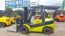 3.3톤 디젤지게차 07년식 클라크C33D 3단마스트,힌지드포크(버켓)
