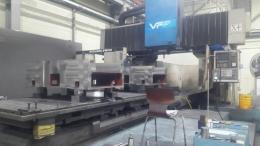 히다치세이끼 문형머시닝MCT VF-2240 T1500*4000 통과폭2150 X5700 크로스고정 120ATC 1앵글헤드