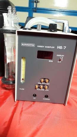 휴대용 에어 샘플러, Handy Air Sampler,분진 채취기, kimoto HS-7