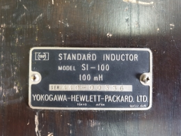 STANDARD INDUCTOR,Yokogawa Hewlett Packard HP YHP Standard INDUCTOR S1-100,표준 인덕터 S1-100