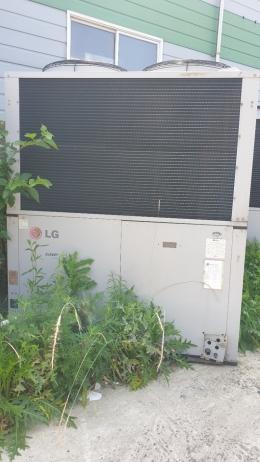 가스엔진구동 히트펌프, 대형 열교환기, 대형 실외기, 히트펌프 열교환기