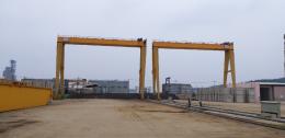 20톤 ×S/P:15M ×H:18M 겐츄리크레인(크립형)