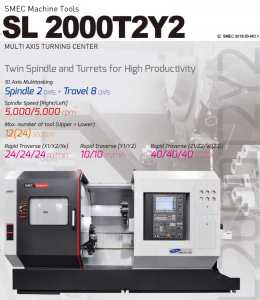 SL 2000T2Y2 MULTI AXIS TURNING CENTER
