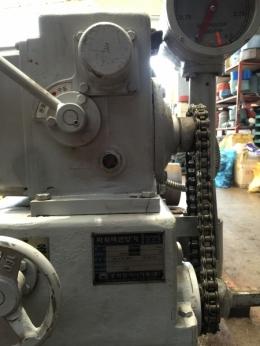 5마력 인양능력10톤,중고감속기,효성감속기, 감속기
