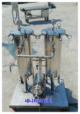 휠타하우징 세리타리펌프세트 필터하우징 필타하우징 여과기 중고식품기계