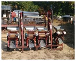 롤밀 롤분쇄기 4대연속 고추기계 고추방아기계 방앗간기계 중고식품기계