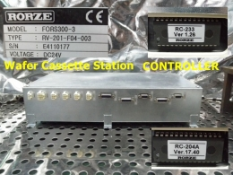 FORS300-3 /type:RV-201-F04-003 Wafer Cassette Station CONTROLLER 로체시스템즈 RORZE
