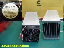 다용도 AVR방열판 사이즈345 x 124 x 123 (AVR 모듈.IGBT방열판으로사용하던것) 휀4715KL-05W