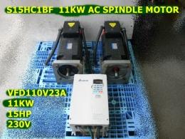 S15HC1BF  11KW AC SPINDLE MOTOR +VFD110V23A 15HP 230V DELTA 스핀들 드라이브