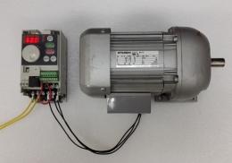 속도조절감속기 미쓰비시 FR-S520E-0.2K  (200W)인버터 +GM-S 0.2KW 1:10 감속기