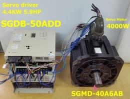 SGDB-50ADD 5.9hp Servo driver + SGMD-40A6AB Servo Motor YASKAWA