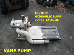 도키멕SQP42-42-21-36CC  정용량형 베인펌프 TOKIMEC vane pump