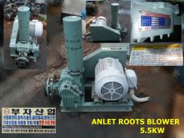 안레트 5.5KW 7.5마력 루츠브로아 BE65E ANLET ROOTS BLOWER 400~440V