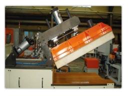 압출라인 절단기,후면설비라인 절단기,Semi auto aluminium cutting M/C,알루미늄절단기