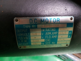 NIPPON SERVO MOTOR MODEL  S18010-0SA, 니폰 서보모터