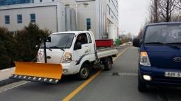 제설차, 1톤차량용제설기, 제설기,염화칼슘살포기