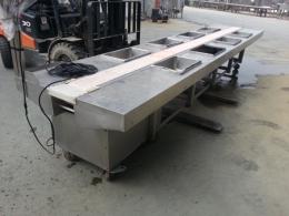 김치 양념 작업 컨베어, 5미터 속도조절가능 김치 컨베어, 양념 컨베어