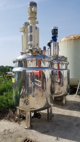 3중자켓교반탱크 2톤 자켓교반탱크 2톤 반응기