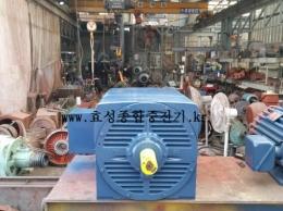 효성 고압 반폐 모터 500HP*10P*60HZ*3300V