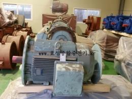 효성 신형 버티컬 모터 150HP*4P*60HZ*440V