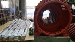 현대 고압모터 수리과정 550KW*4*60*6600V