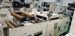 톰슨기 실크인쇄기 세트 톰슨 작업과 실크 인쇄기 작업을 동시에 하는기계
