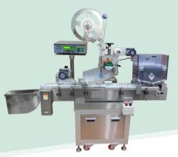 상면 전주부착용 자동 라벨 부착기 (Auto-labeling machine for cylindrical)