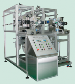 특수형 라벨 부착 기 (Special  type of auto-labeling machine)