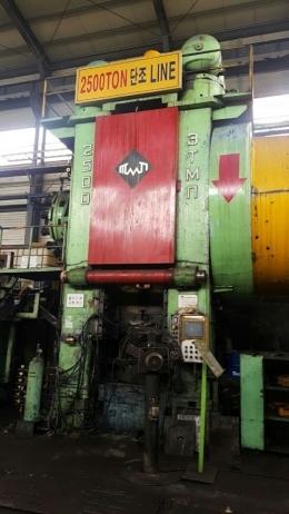 포징프레스 2500톤(인덕션히터 포함)