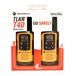 모토로라 정품 휴대용무전기 TLKR T40 2대 (건전지 사용)