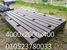 중고정반,주물조방,보링기정반,보링기조방,티홈정반,용접정반(4000x2000x400)