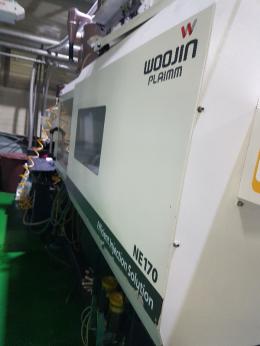 우진 사출기 NE 170톤 2013년식 호파 로다  포함 최상품 현장 작업중
