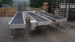 갈매기벨트컨베이어/수산물이송컨베이어/수산물적재대/수산물작업테이블