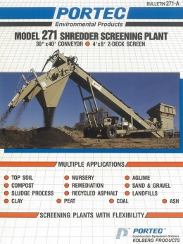 PORTEC MODEL 271 (SHREDDER SCREENING PLANT)
