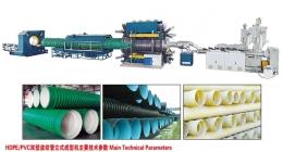 파이프관 압출성형기,HDPE/PP/PVC Vertical Type Double Wall
