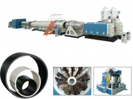 파이프압출성형기,Large Diameter HDPE Water Supply and Gas Supply Pipe Extrusion Line