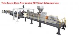 시트압출성형기,  Twin Screw Dyer-free Vented PET Sheet Extrusion Line