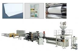 플랫트 압출성형기,ABS、HIPS Single、Multi-layer Plate Extrusion Line