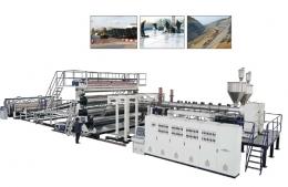 시트압출성형기,PE Extra-width Geomembrane/Waterproof Sheet Extrusion Line