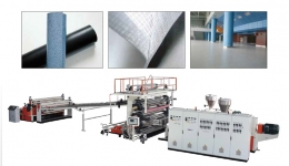 바닥시트압출성형기,PVC Floor Leather Extrusion Line