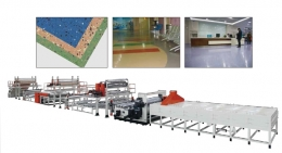 바닥 시트압출성형기,PVC Homogeneous Heart Flooring Leather Production Lines