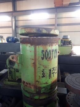 500톤 유압 작기