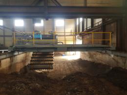 퇴비 발효건조기,에스컬레이터식 교반기,퇴비 교반기,폐기물 교반기
