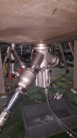 반응기제작 탱크밸브 제작 bottom valve 제작