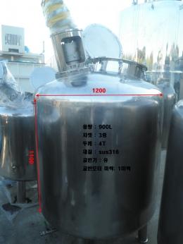 900L SUS 316 3중 자켓 탱크