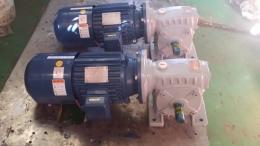 웜 감속기/웜 기어 감속기/WORM GEAR REDUCER/삼부 웜 감속기 폴 체인지 B/K 부착 모터 80형 1/30